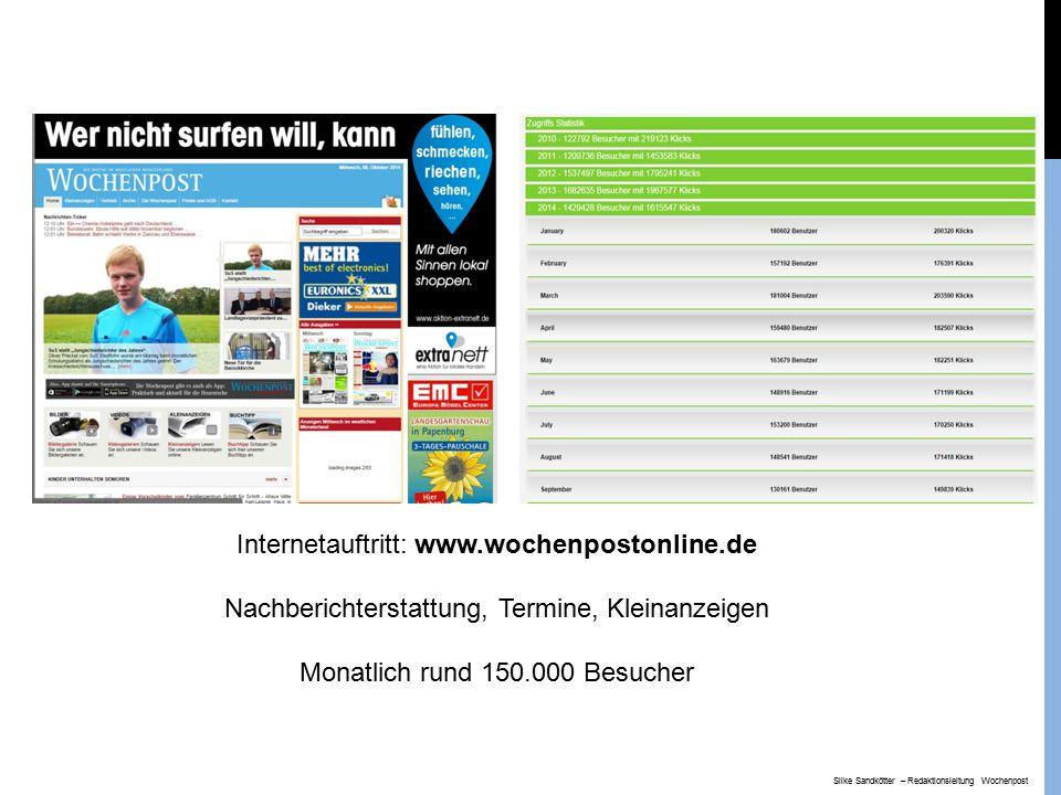 Internetauftritt: www.wochenpostonline.de