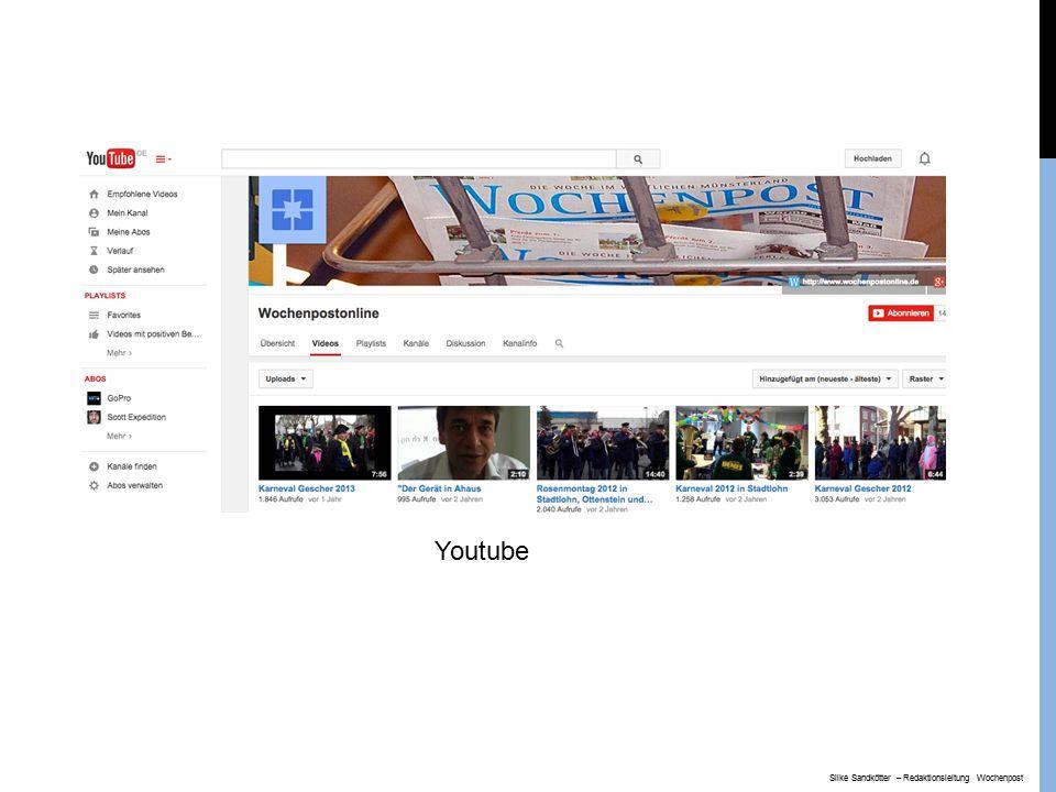 Youtube Silke Sandkötter – Redaktionsleitung Wochenpost