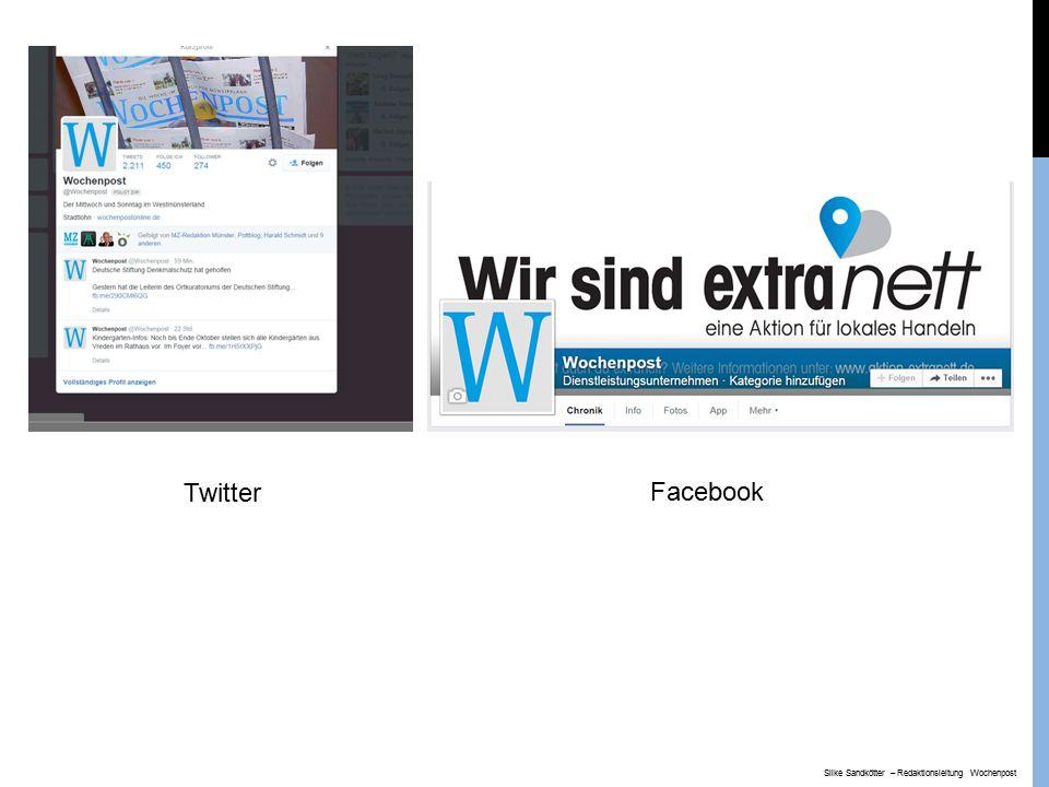 Twitter Facebook Silke Sandkötter – Redaktionsleitung Wochenpost