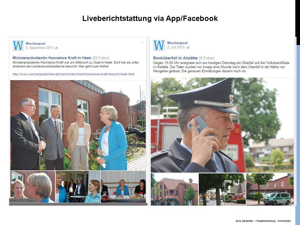 Liveberichtstattung via App/Facebook