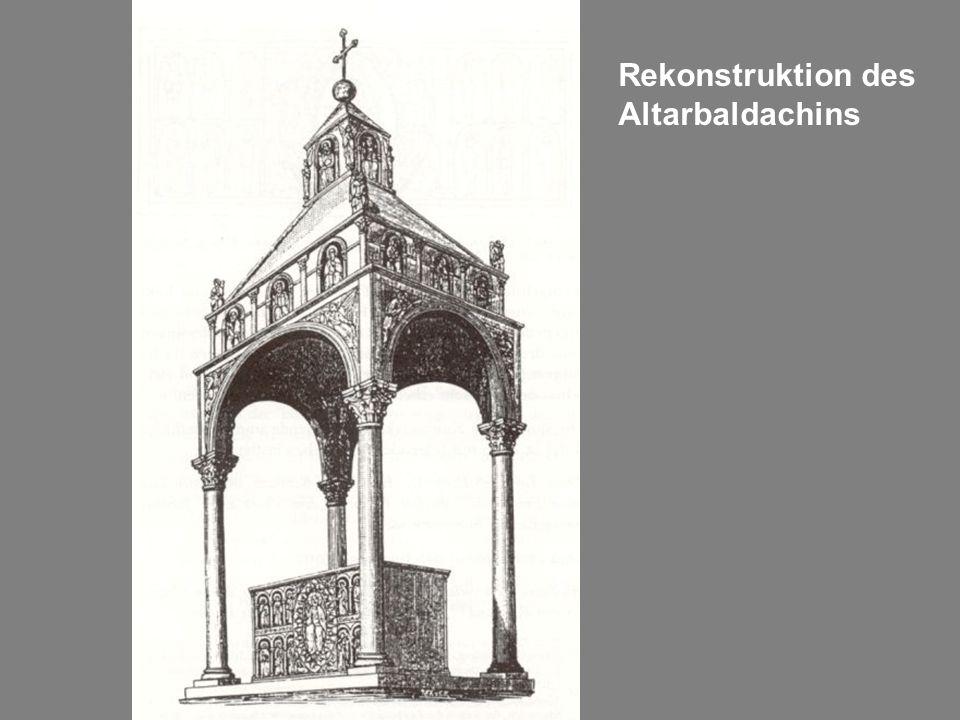Rekonstruktion des Altarbaldachins