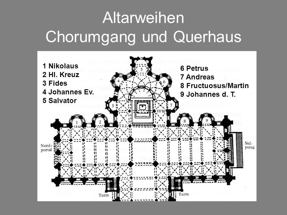Altarweihen Chorumgang und Querhaus
