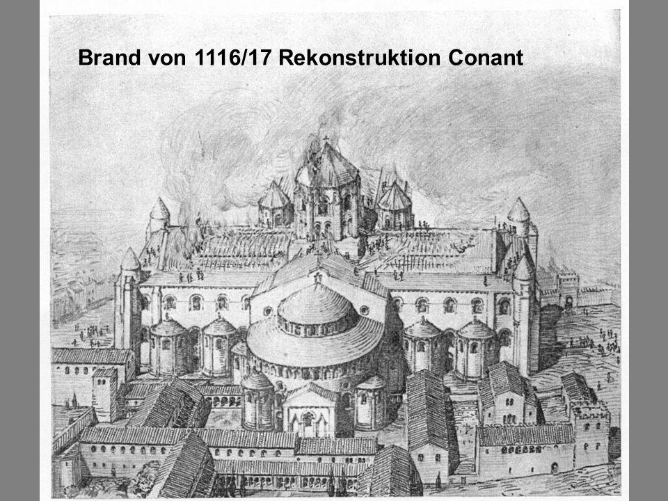 Brand von 1116/17 Rekonstruktion Conant