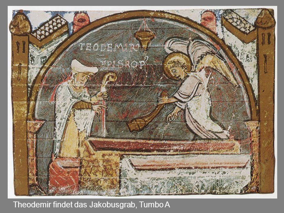 Theodemir findet das Jakobusgrab, Tumbo A