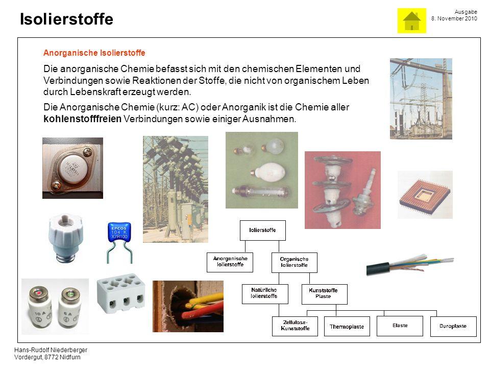 Anorganische Isolierstoffe
