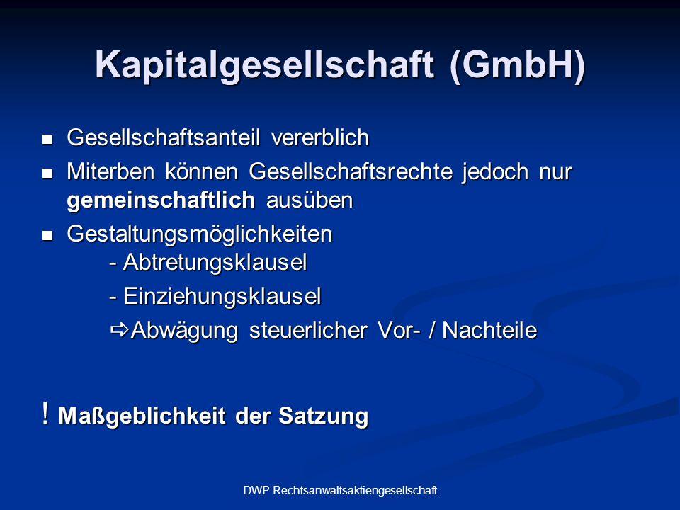 Kapitalgesellschaft (GmbH)