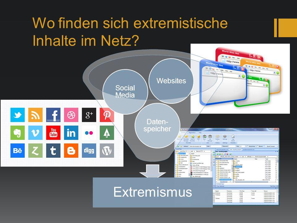 Wo finden sich extremistische Inhalte im Netz