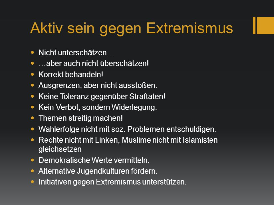 Aktiv sein gegen Extremismus