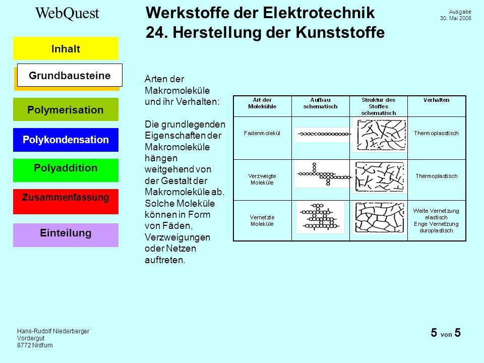 5 von 5 Grundbausteine Arten der Makromoleküle und ihr Verhalten: