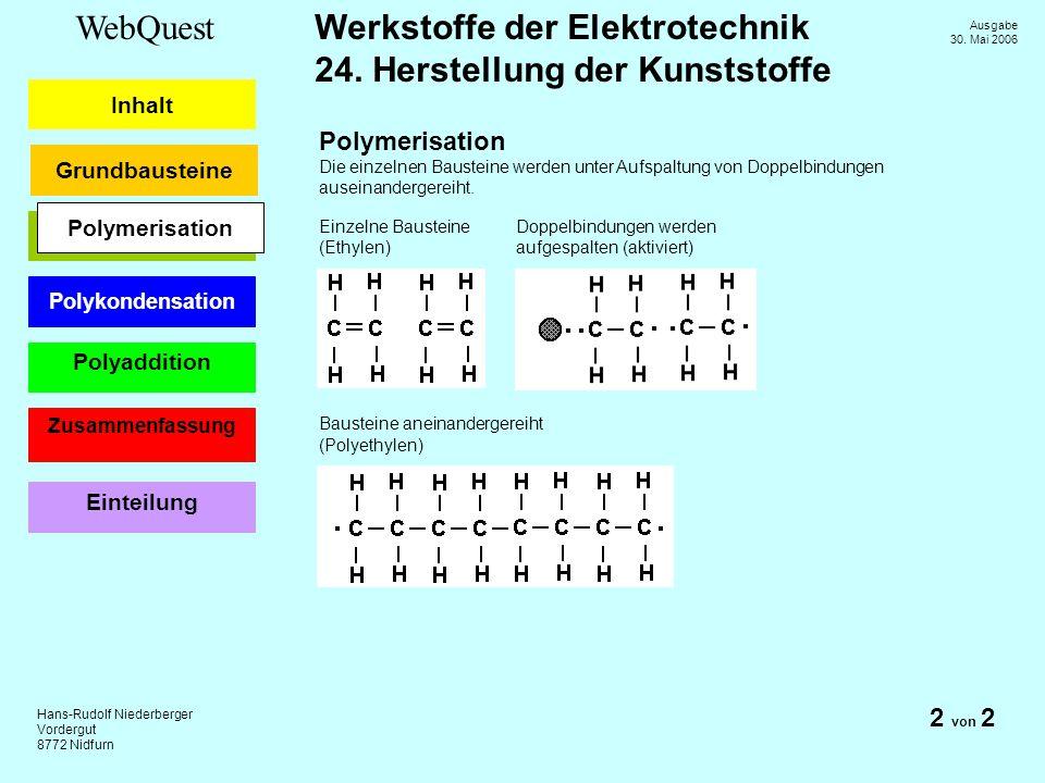Polymerisation 2 von 2 Polymerisation