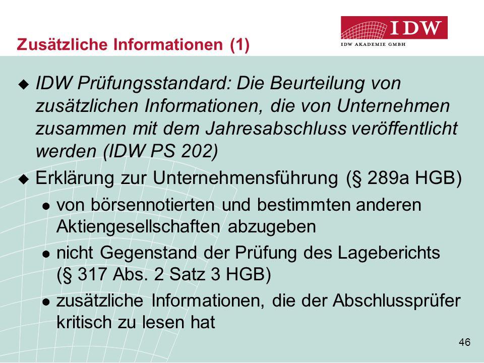 Zusätzliche Informationen (1)