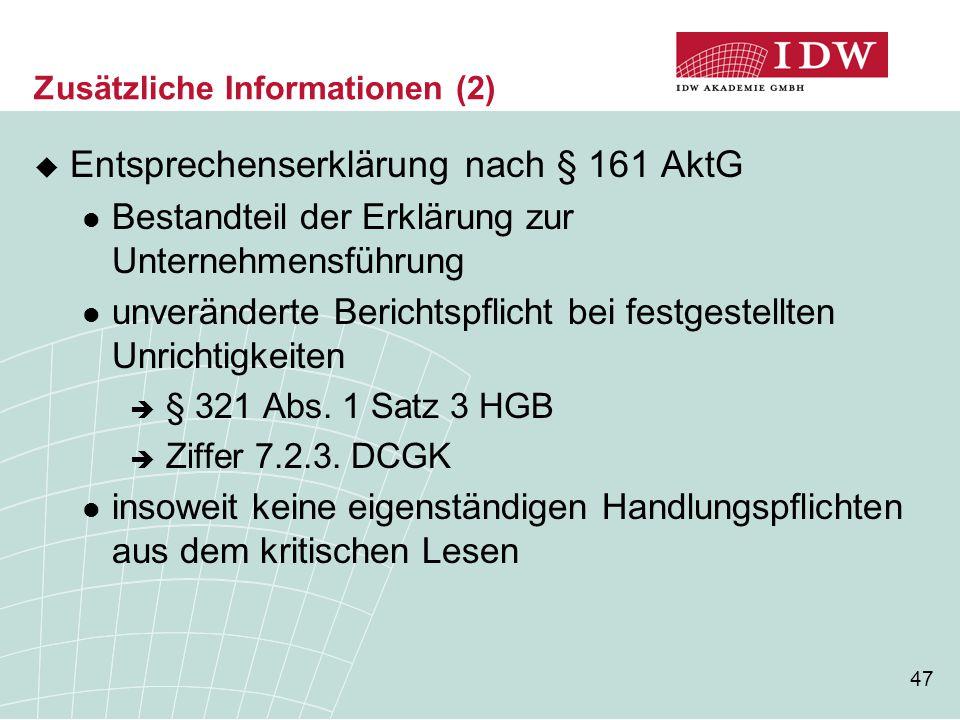 Zusätzliche Informationen (2)