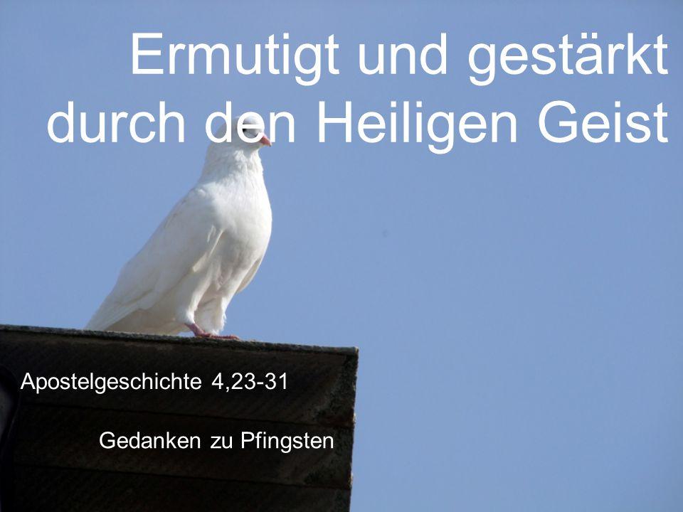 Ermutigt und gestärkt durch den Heiligen Geist