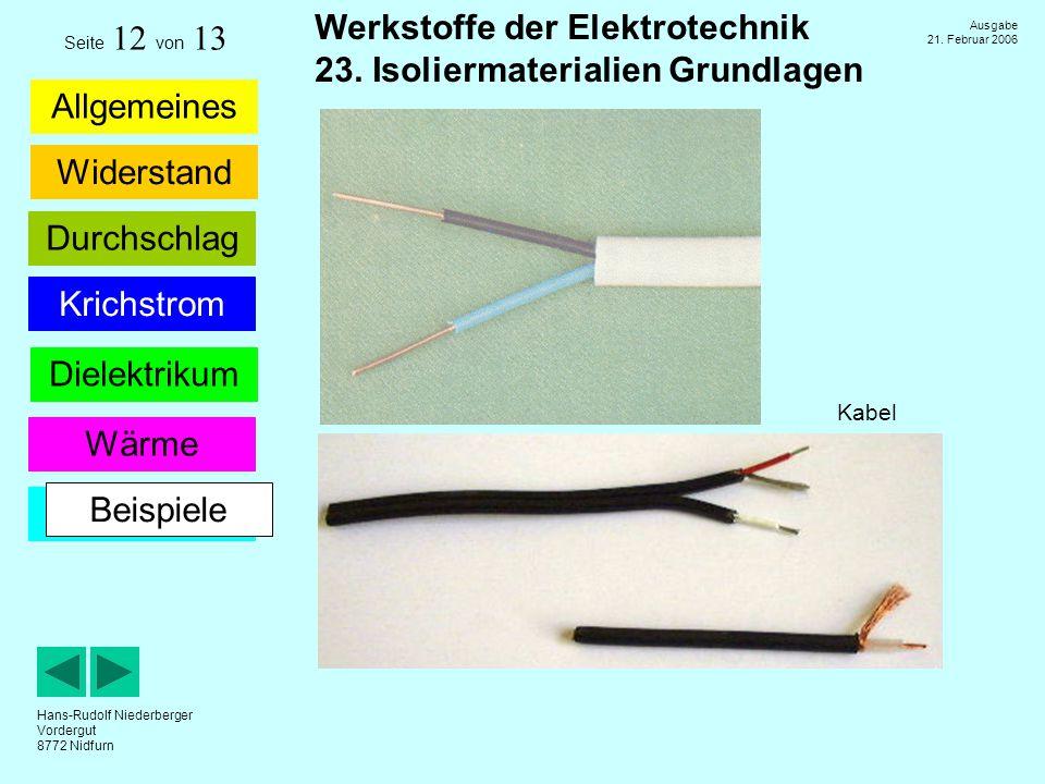 Seite 12 von 13 Kabel Beispiele