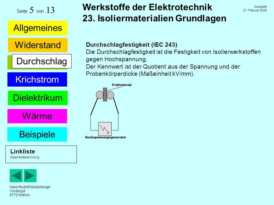 Durchschlag Durchschlagfestigkeit (IEC 243)