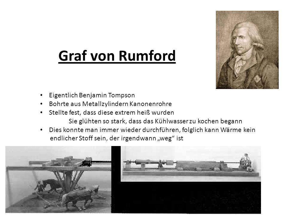 Graf von Rumford Eigentlich Benjamin Tompson