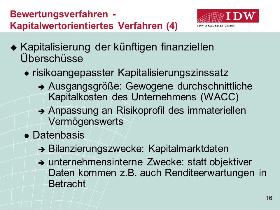 Bewertungsverfahren - Kapitalwertorientiertes Verfahren (4)