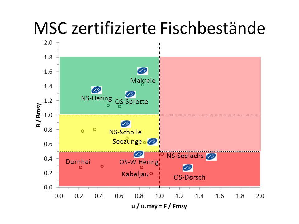 MSC zertifizierte Fischbestände