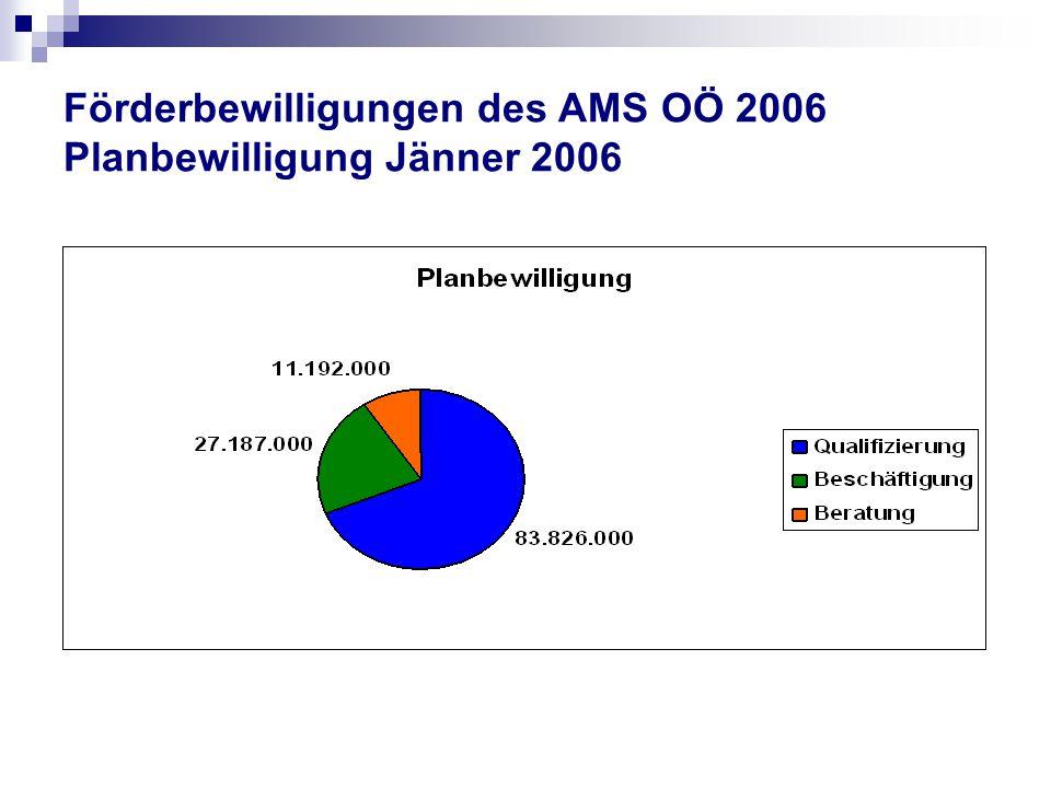 Förderbewilligungen des AMS OÖ 2006 Planbewilligung Jänner 2006