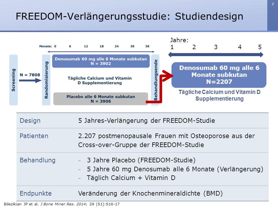FREEDOM-Verlängerungsstudie: Studiendesign