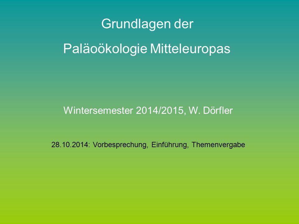 Paläoökologie Mitteleuropas