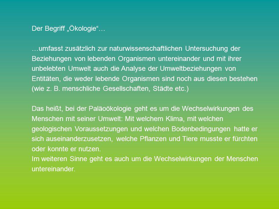 """Der Begriff """"Ökologie …"""