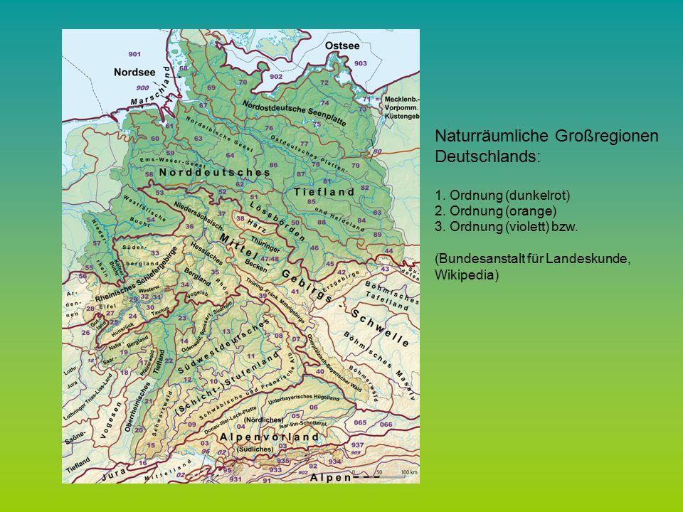 Naturräumliche Großregionen Deutschlands: