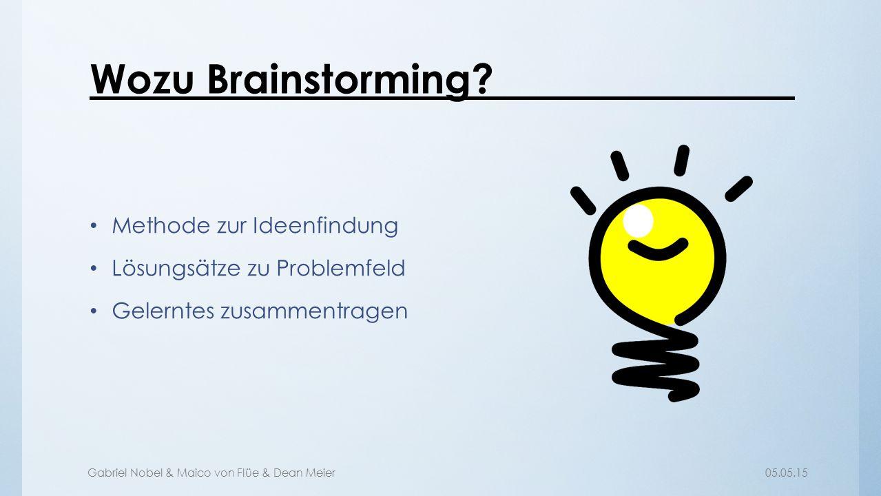 Wozu Brainstorming Methode zur Ideenfindung