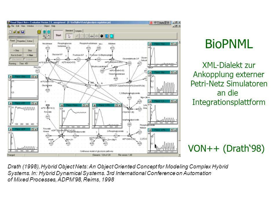 BioPNML XML-Dialekt zur Ankopplung externer Petri-Netz Simulatoren an die Integrationsplattform