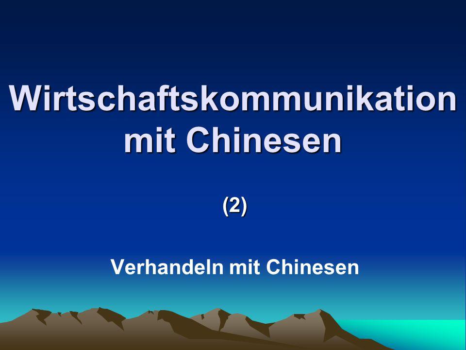 Wirtschaftskommunikation mit Chinesen
