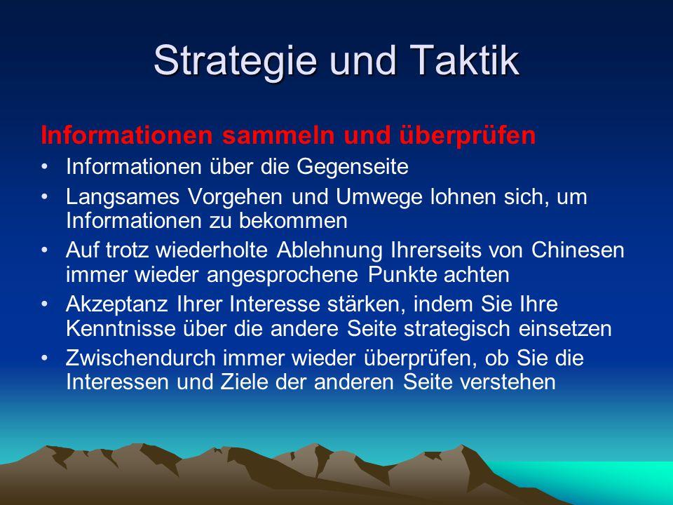 Strategie und Taktik Informationen sammeln und überprüfen
