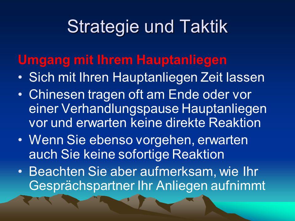 Strategie und Taktik Umgang mit Ihrem Hauptanliegen