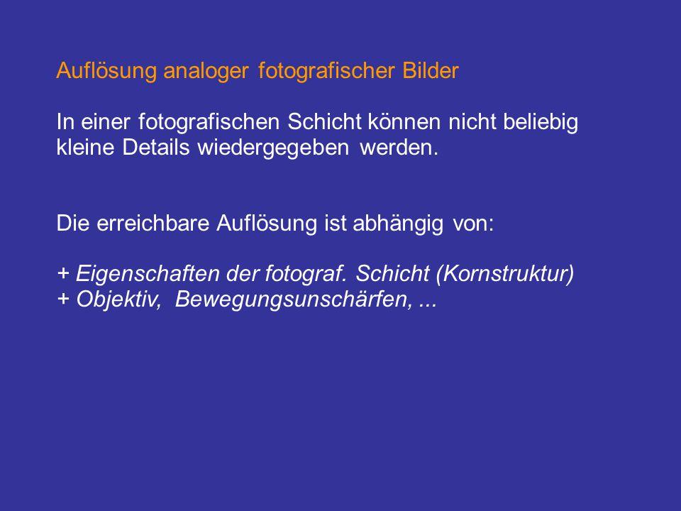 Auflösung analoger fotografischer Bilder