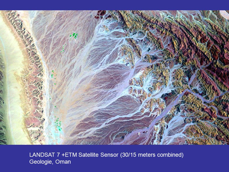 LANDSAT 7 +ETM Satellite Sensor (30/15 meters combined)