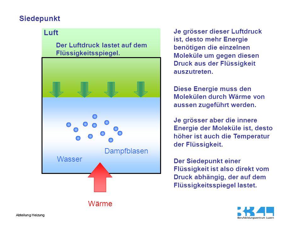 Siedepunkt Luft Dampfblasen Wasser Wärme
