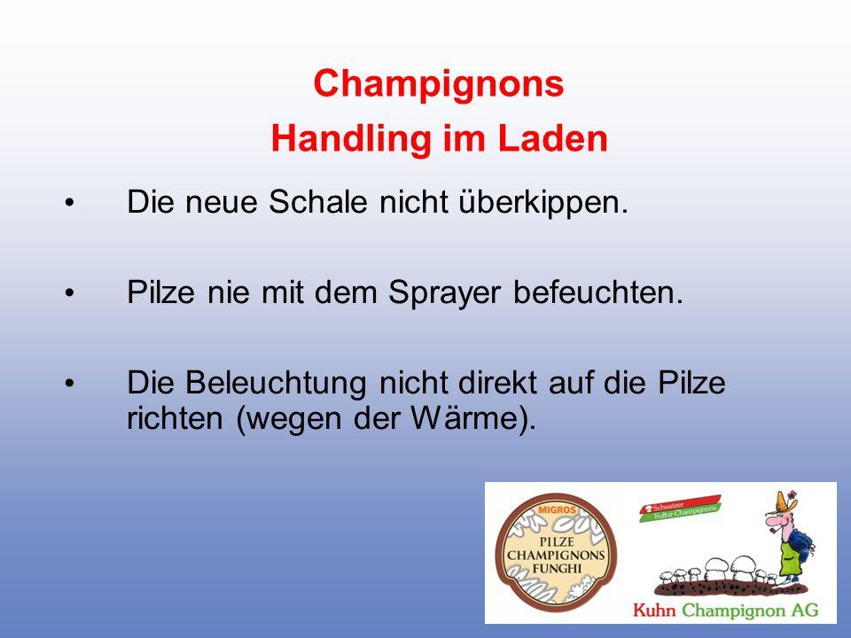 Champignons Handling im Laden