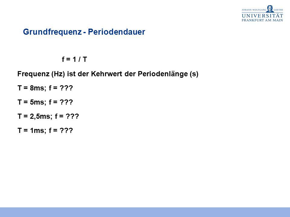 Grundfrequenz - Periodendauer