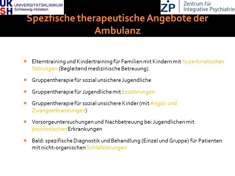 Spezfische therapeutische Angebote der Ambulanz