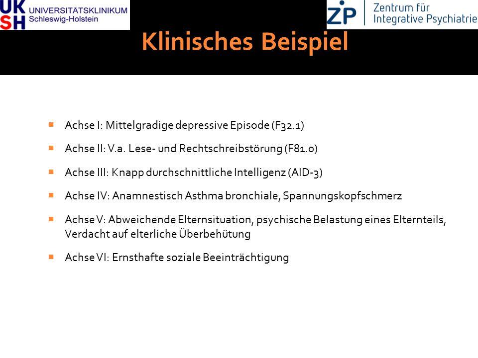 Klinisches Beispiel Achse I: Mittelgradige depressive Episode (F32.1)