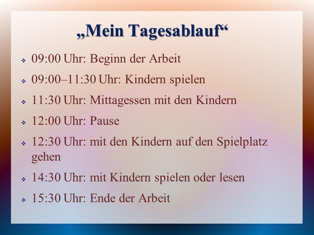 """""""Mein Tagesablauf 09:00 Uhr: Beginn der Arbeit"""