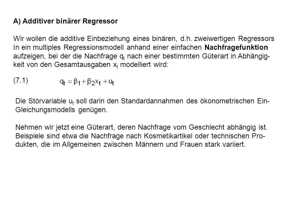 A) Additiver binärer Regressor