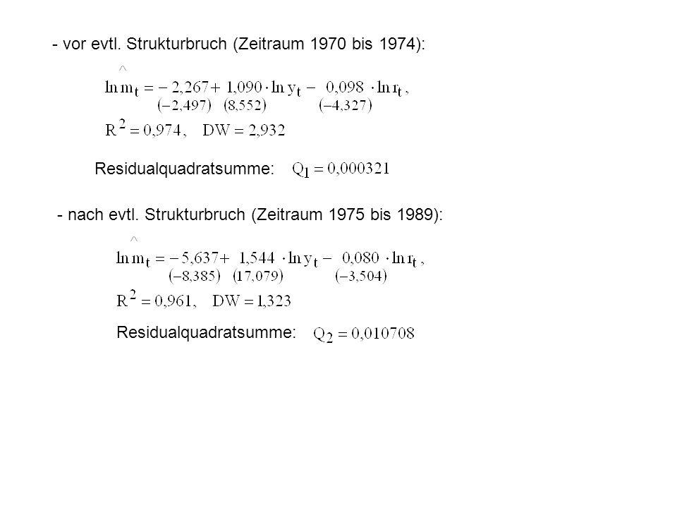 - vor evtl. Strukturbruch (Zeitraum 1970 bis 1974):