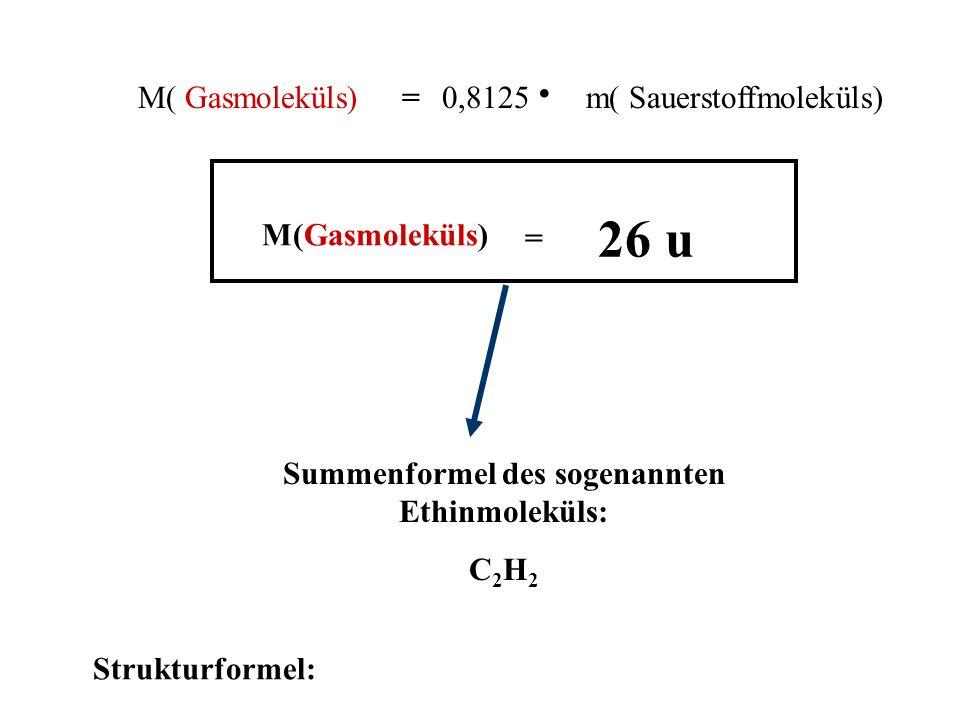 Summenformel des sogenannten Ethinmoleküls: