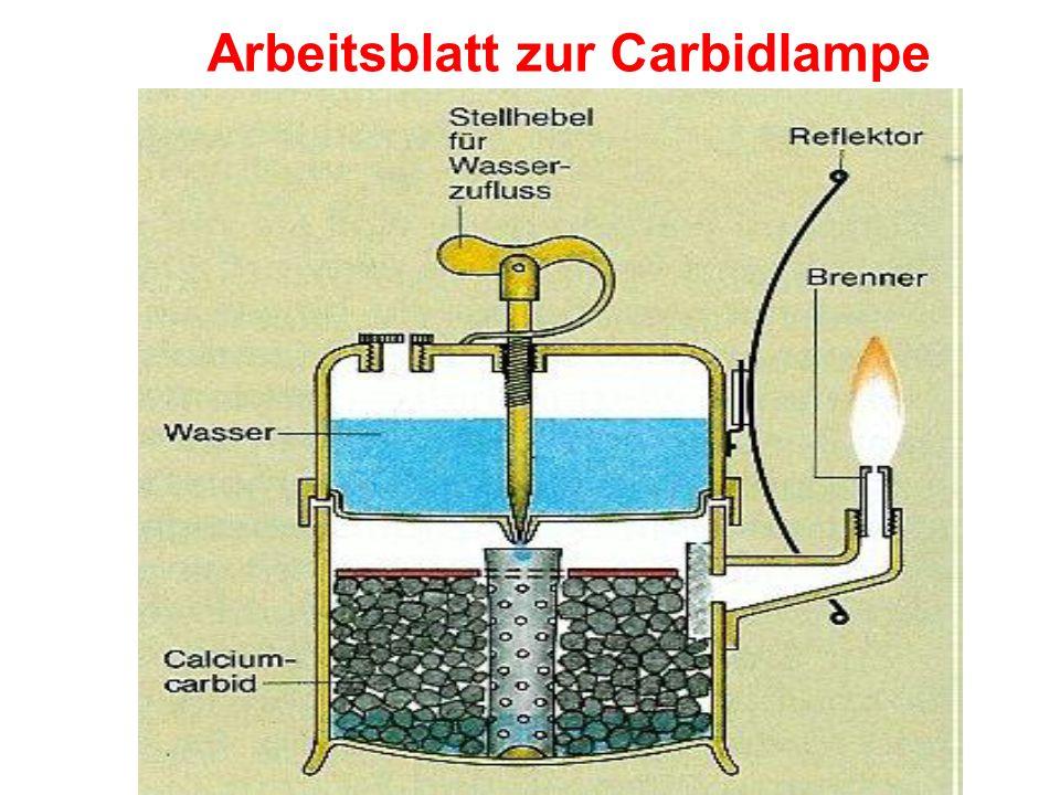 Arbeitsblatt zur Carbidlampe