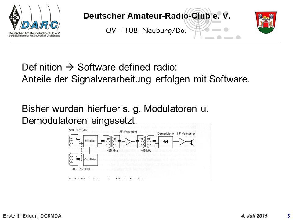 Bisher wurden hierfuer s. g. Modulatoren u. Demodulatoren eingesetzt.