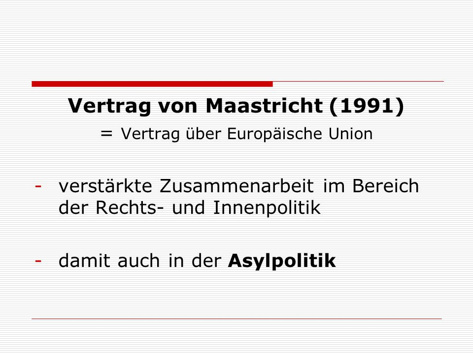 Vertrag von Maastricht (1991)