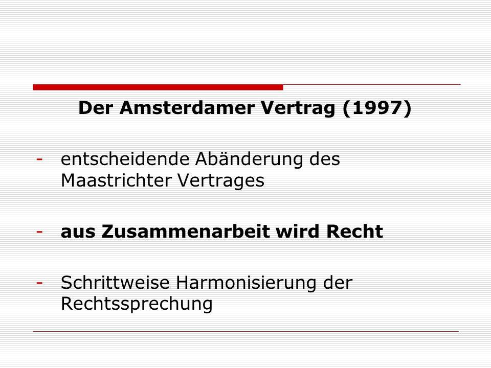 Der Amsterdamer Vertrag (1997)