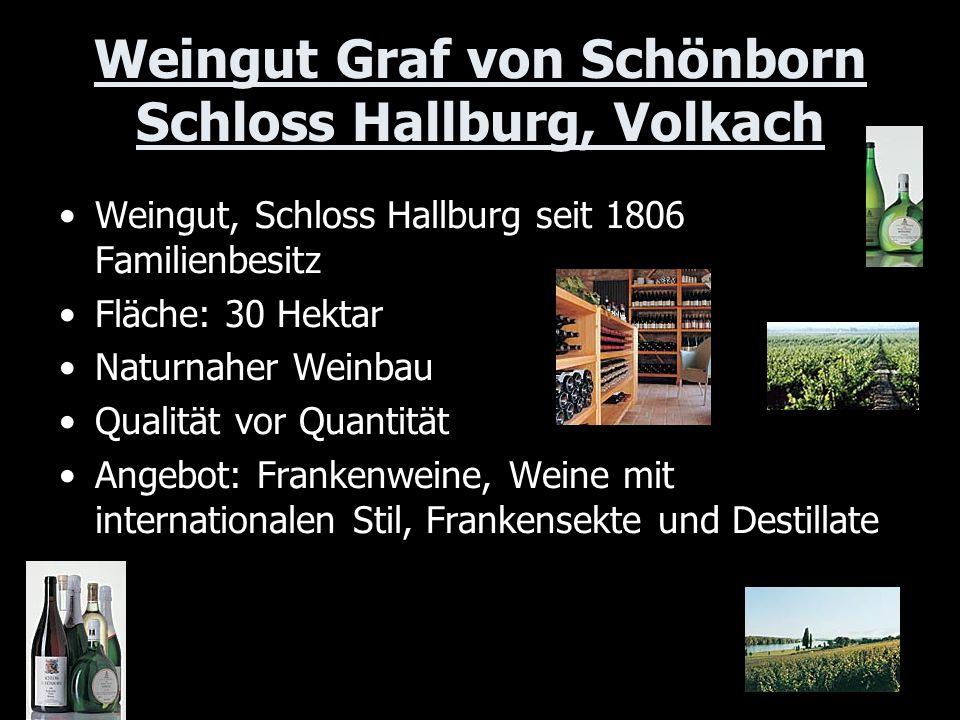 Weingut Graf von Schönborn Schloss Hallburg, Volkach