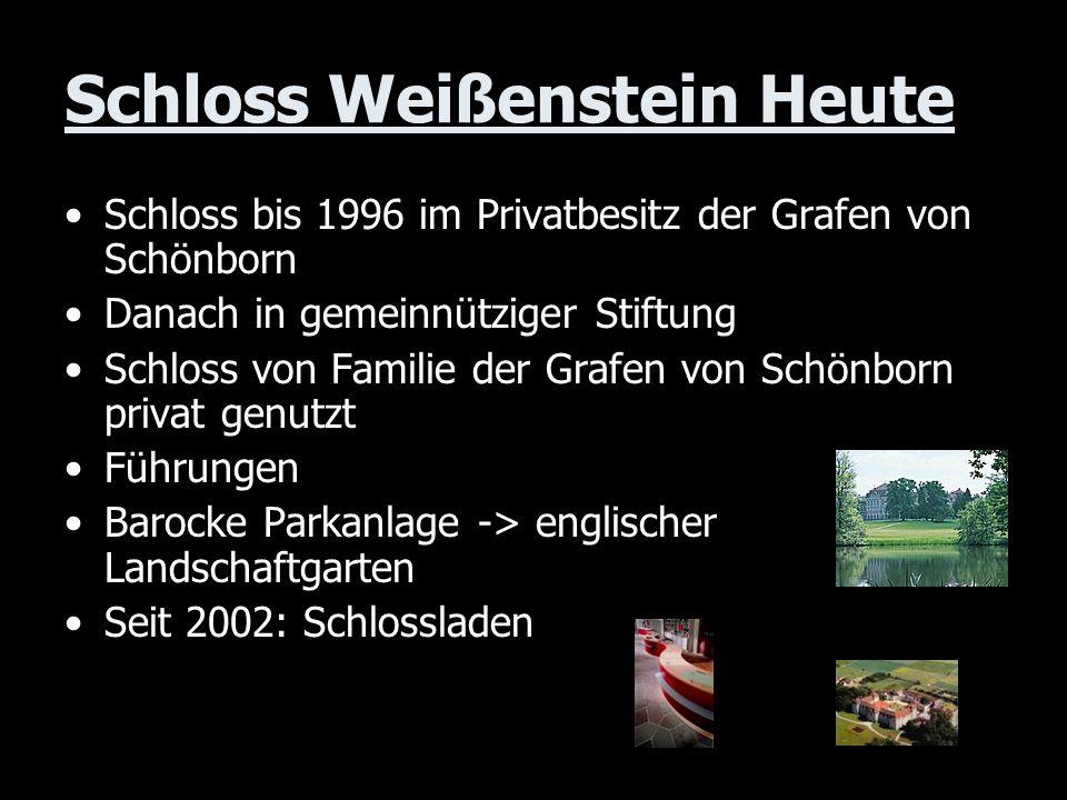 Schloss Weißenstein Heute