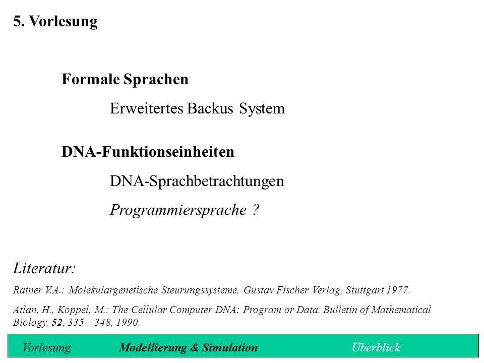 Erweitertes Backus System DNA-Funktionseinheiten